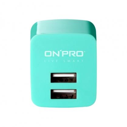 ONPRO 雙輸出極速充電器 UC-2P01 (湖水綠)