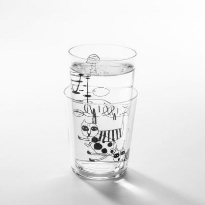 cindymode 空氣感玻璃器皿 朵拉 (摺耳貓玻璃杯2入Scottish Fold Cat Set)