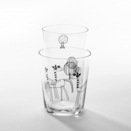 cindymode 空氣感玻璃器皿 朵拉 (羊駝玻璃杯2ㄒ入Alpaca Set)