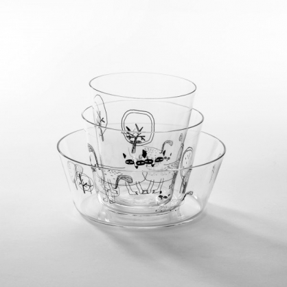 cindymode 空氣感玻璃器皿 朵拉 (北極玻璃壺3入 Arctic Fox Set)