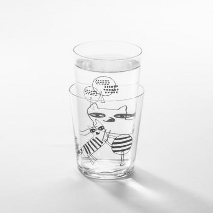 cindymode 空氣感玻璃器皿 朵拉 (藍狐玻璃杯2入 Blue Fox Set)
