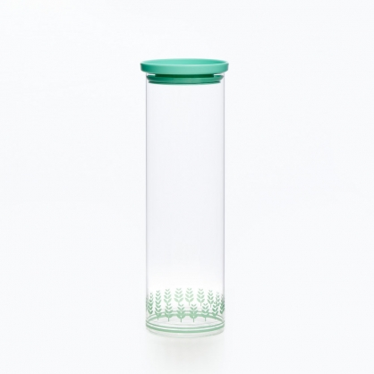 TZULAi 厝內 玻璃密封罐1900ML(綠稻穗)