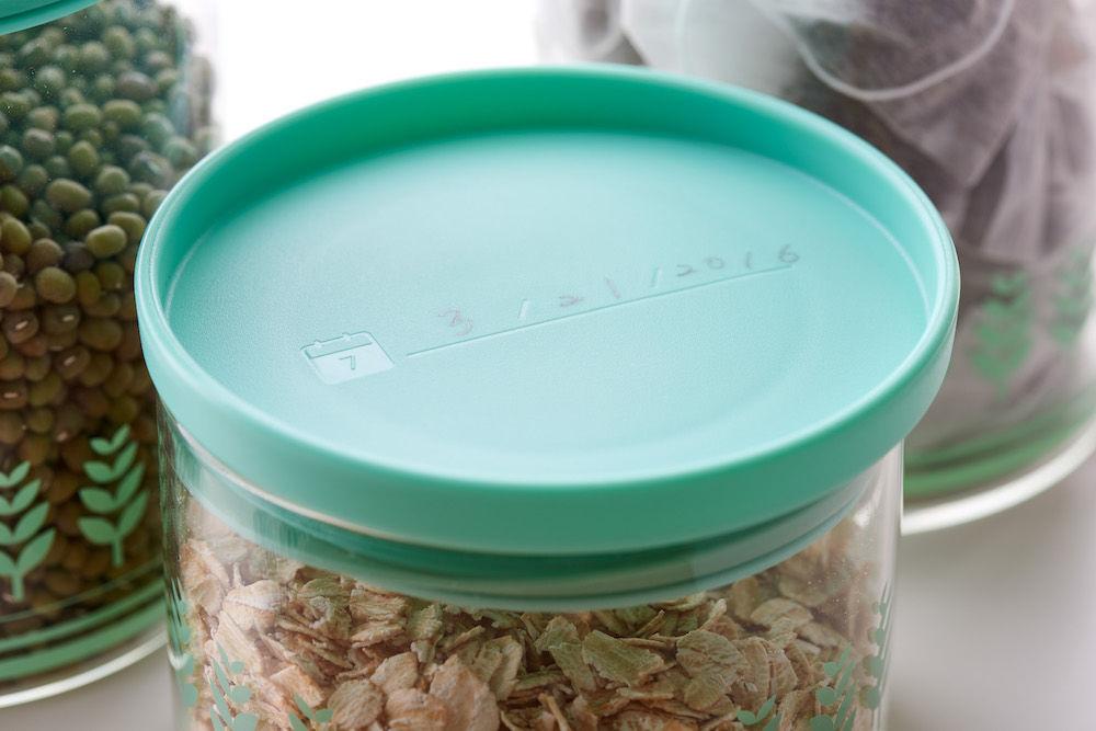 TZULAi 厝內 玻璃密封罐1100ML(綠稻穗)