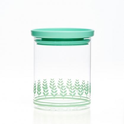 TZULAi 厝內 玻璃密封罐600ML(綠稻穗)