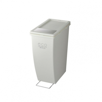 ECO 雙開蓋 美型垃圾桶 21L (潔淨白 下段用)