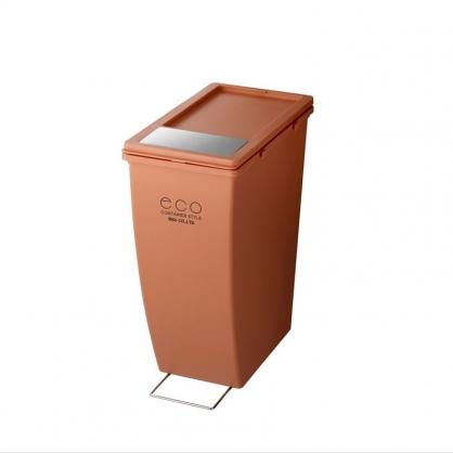 ECO 雙開蓋 美型垃圾桶 21L (磚紅 下段用)