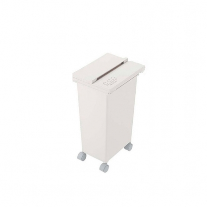 ECO 三段式掀蓋 質感垃圾桶 21L (整潔白)