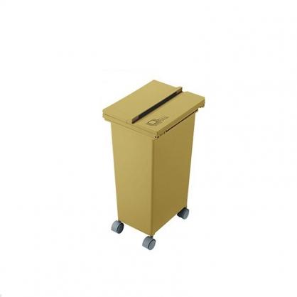 ECO 三段式掀蓋 質感垃圾桶 21L (芥末黃)