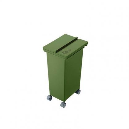 ECO 三段式掀蓋質感垃圾桶 21L (森林綠)