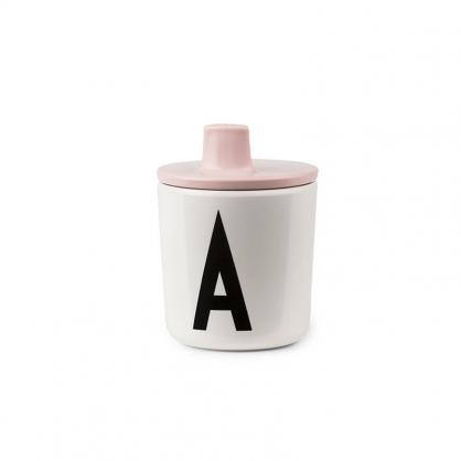DESIGN LETTERS 兒童字母杯杯蓋 (嬰兒粉)