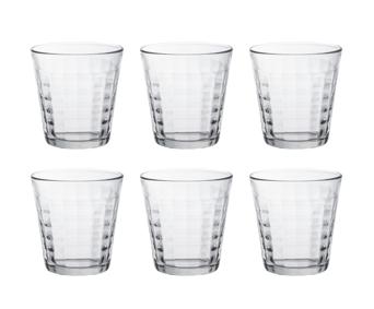 Duralex【6入組】棱鏡格子杯 Prisme 透明色