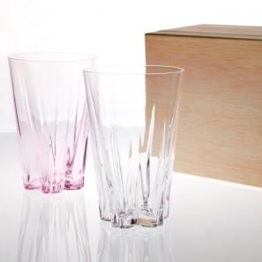 100% 櫻花玻璃杯2入組 SAKURASAKU glass(240 cc)