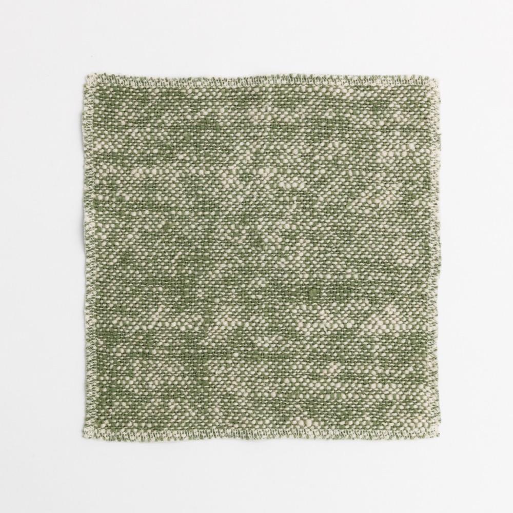 Caracol 和風有機棉手巾 橄欖綠
