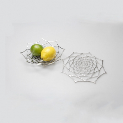 NOUSAKU 能作 100%純錫 雅緻質感置物籃(大理花 L)