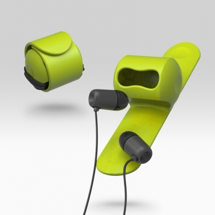Snappy 耳機捲線器(萊姆綠)