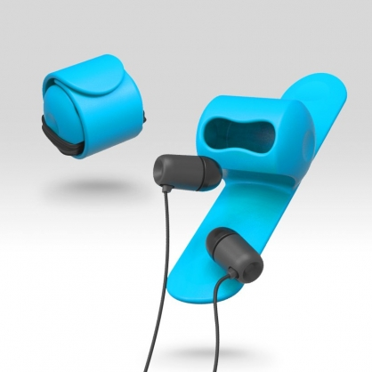 Snappy 耳機捲線器(晴空藍)