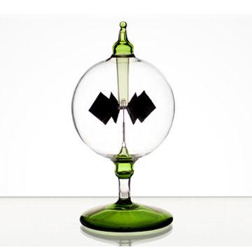 賽先生 太陽能風車(光能輻射計) 草地綠 小12cm
