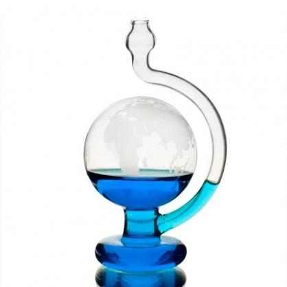 賽先生 玻璃氣壓觀測球(晴雨儀) 世界地圖版