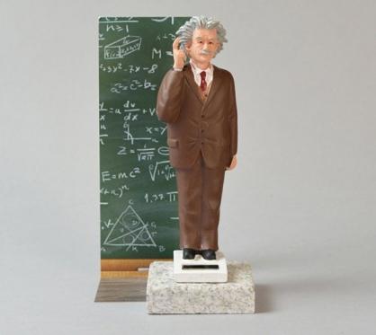 賽先生  太陽能 愛因斯坦搖手公仔