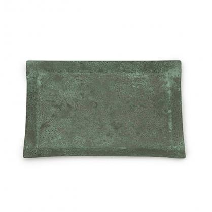 tone 四方銅彩盤 (銅綠 M)