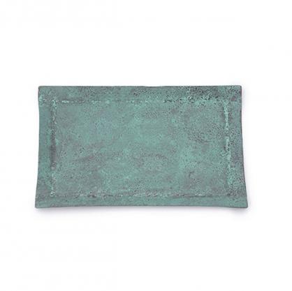 tone 四方銅彩盤 (藍銅 L)