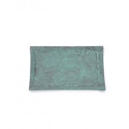 tone 四方銅彩盤 (藍銅 M)
