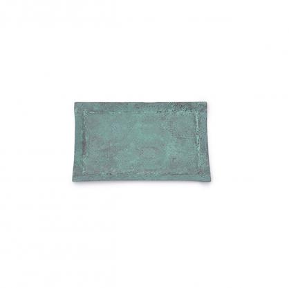 tone 四方銅彩盤 (藍銅 S)