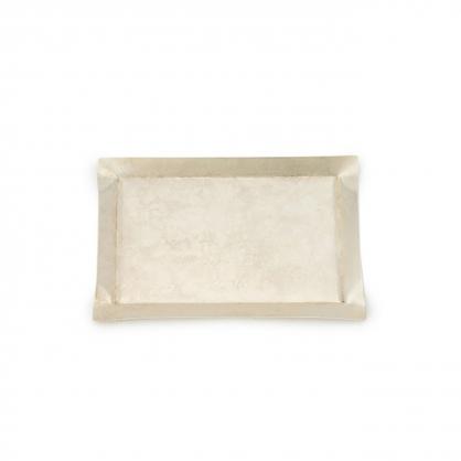 tone 四方銅彩盤 (珍珠銀 S)