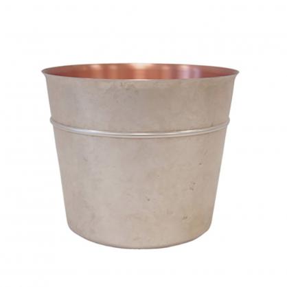 tone 銅彩置物筒 (珍珠銀 L)