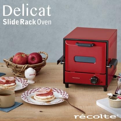 récolte 時尚電烤箱 Delicat (經典紅)