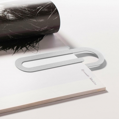Fold & Plait 迴紋針書籤 (白色)