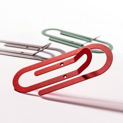 Fold & Plait 迴紋針壁掛 (紅色)