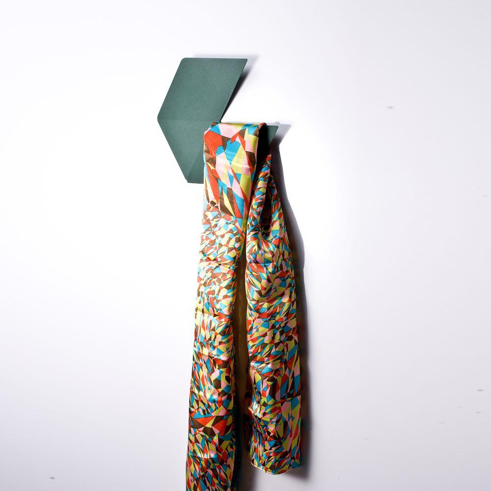 Fold & Plait 大六角-錯視壁掛(綠色)