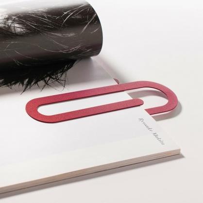Fold & Plait 迴紋針書籤 (紅色)