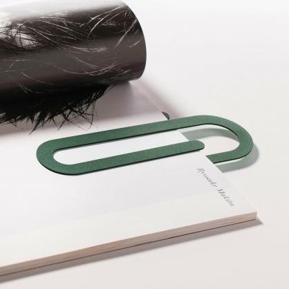 Fold & Plait 迴紋針書籤 (綠色)