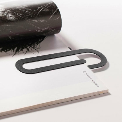 Fold & Plait 迴紋針書籤 (黑色)