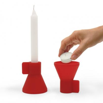 Doiy DUO雙燭台-2入 (紅+白)