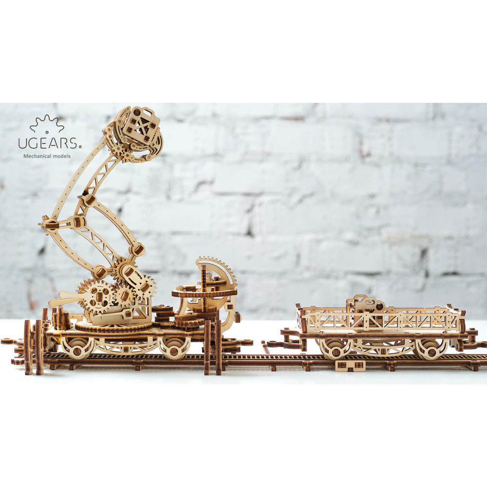 Ugears【機械小鎮】鐵道怪手 Rail Manipulator