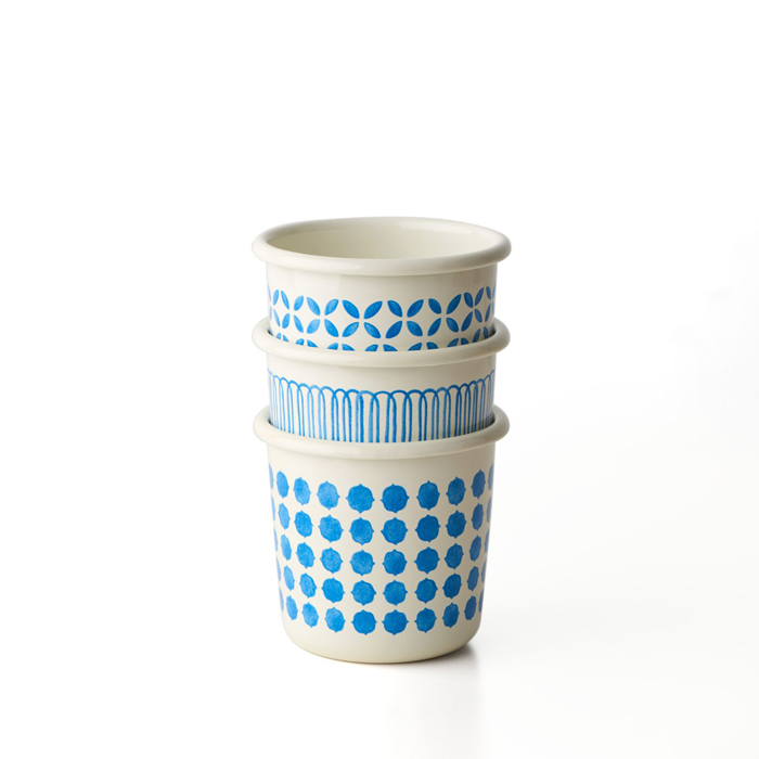 TZULAi 厝內 手繪琺瑯杯_條紋