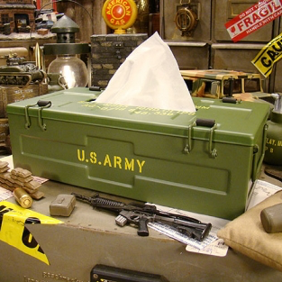 Military 軍事風面紙鐵盒