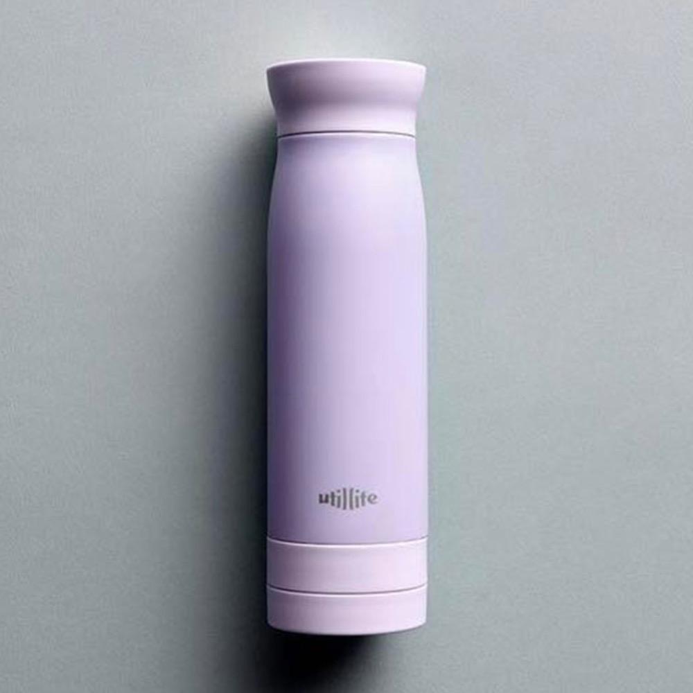 加拿大 Utillife 輕盈收納保溫瓶 420ml 粉紫