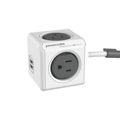 荷蘭 allocacoc PowerCube 雙USB延長線 1.5公尺