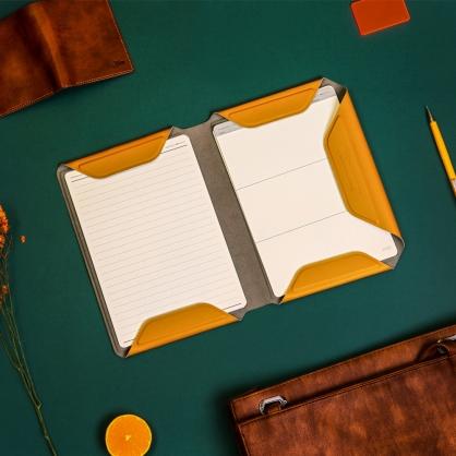 質感A5文件收納夾 NoteBook Modular 橘黃