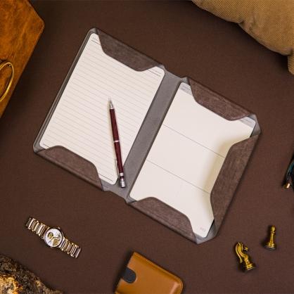 質感A5文件收納夾 NoteBook Modular 可可棕
