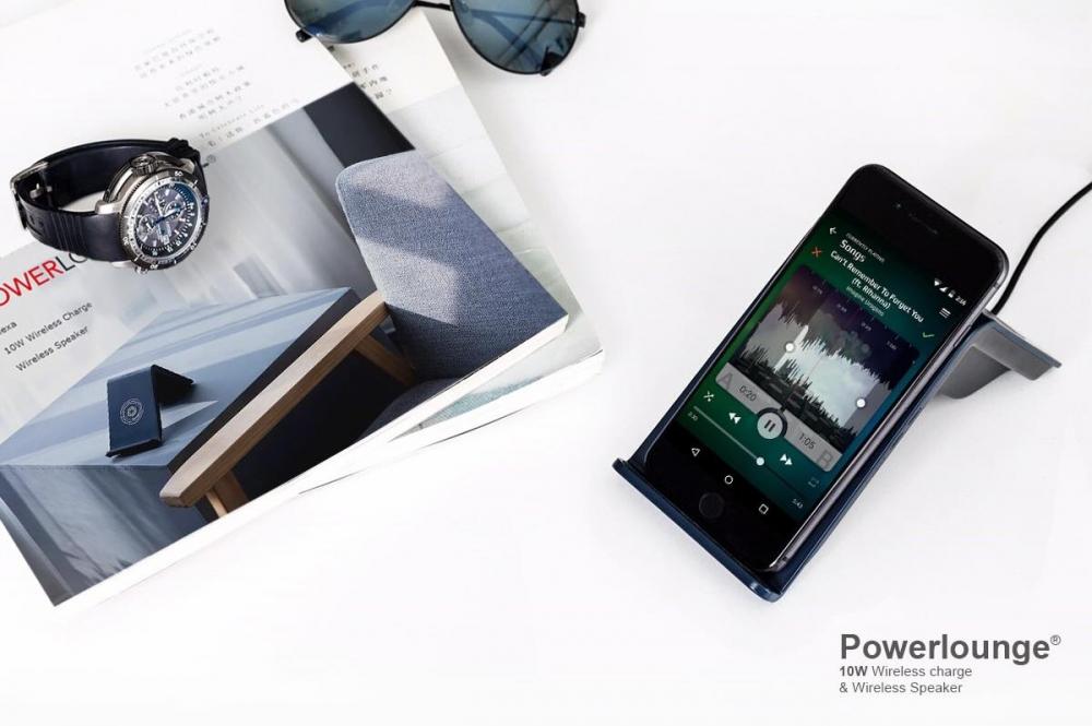 Powerlounge 無線充電藍芽喇叭(四色,太空灰)