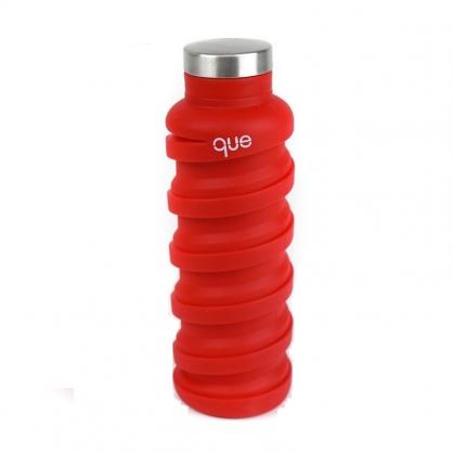 que Bottle 伸縮水瓶 (可樂紅 600ml)
