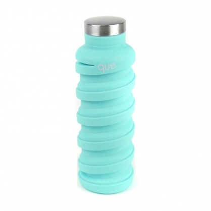 que Bottle 伸縮水瓶 (薄荷藍 600ml)