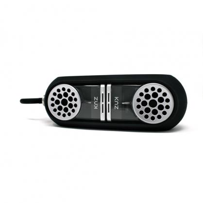 美國 Knz GoDuo 無線磁吸音響/透明主體/黑色矽膠套