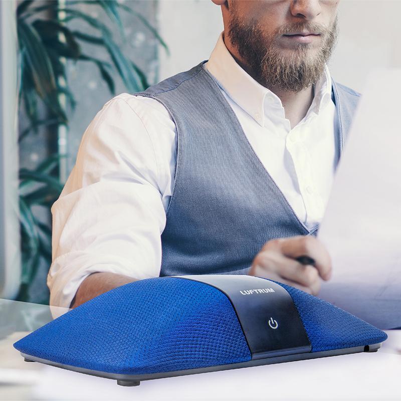 瑞典LUFTRUM 可攜式智能空氣清淨機C401A-瑞典藍 全配組 (小坪數/桌用/車用)