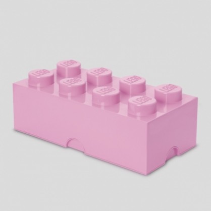 LEGO®放大版 樂高收納箱8凸 (玫瑰粉)